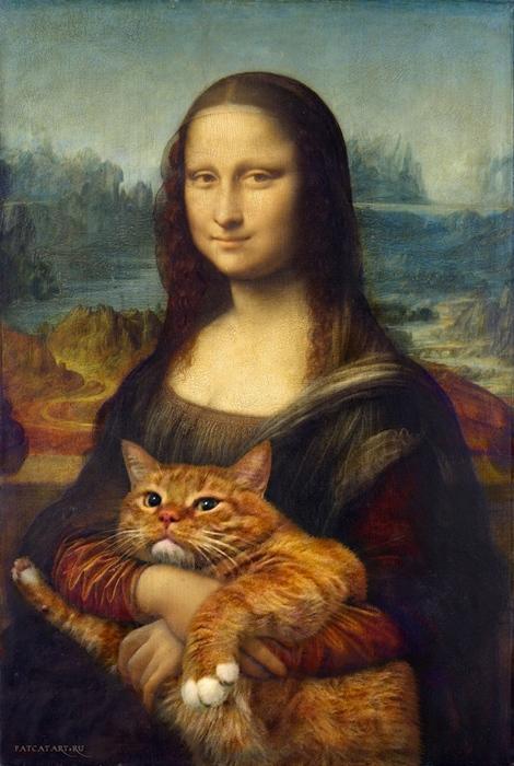 Un gatto ciccione invade l'arte classica ed il risultato è grandioso