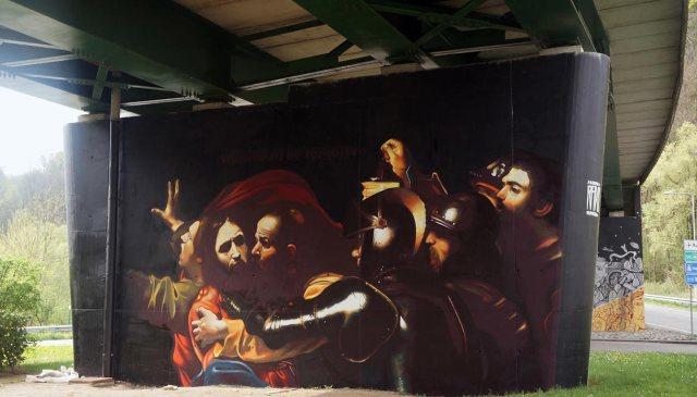 Un artista italiano ha trasformato Caravaggio in street art