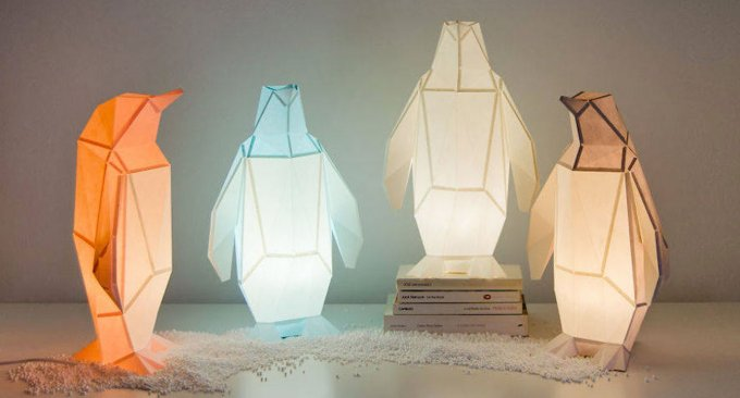 OWL Paperlamps, origami di animali da trasformare in lampade di carta