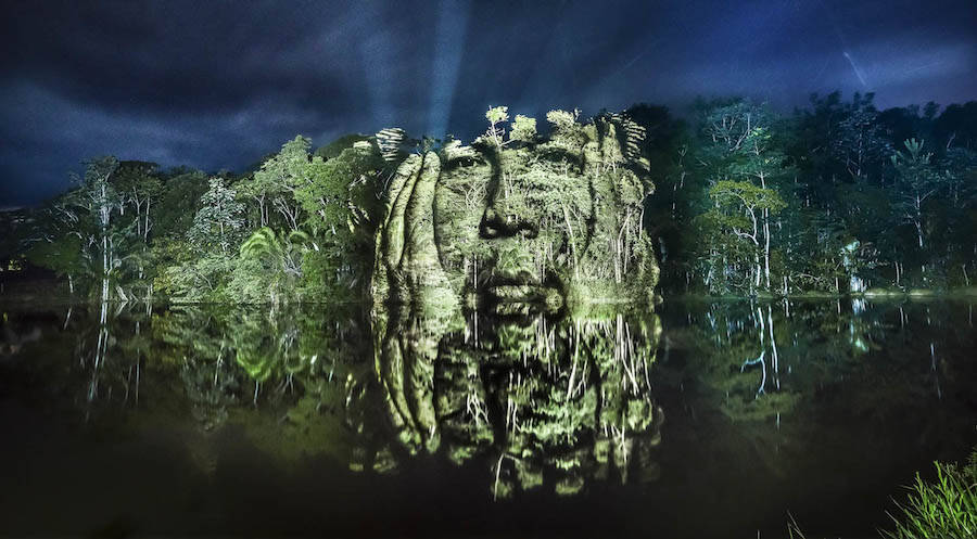 Un'opera di street art nel cuore della foresta Amazzonica