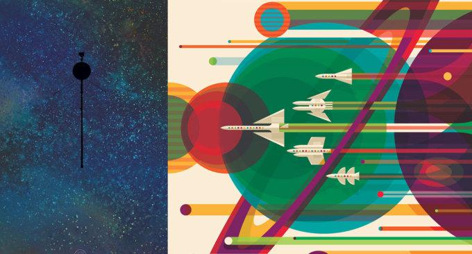 Scarica i poster della NASA per il 40° anniversario del Voyager