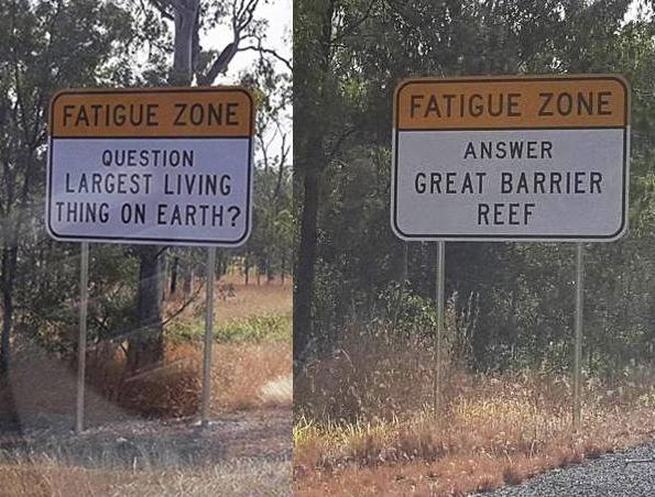 Strani cartelli sullestrade in Australia