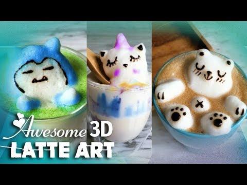 Schiuma di latte, sculture 3D troneggiano sui caffè a Singapore