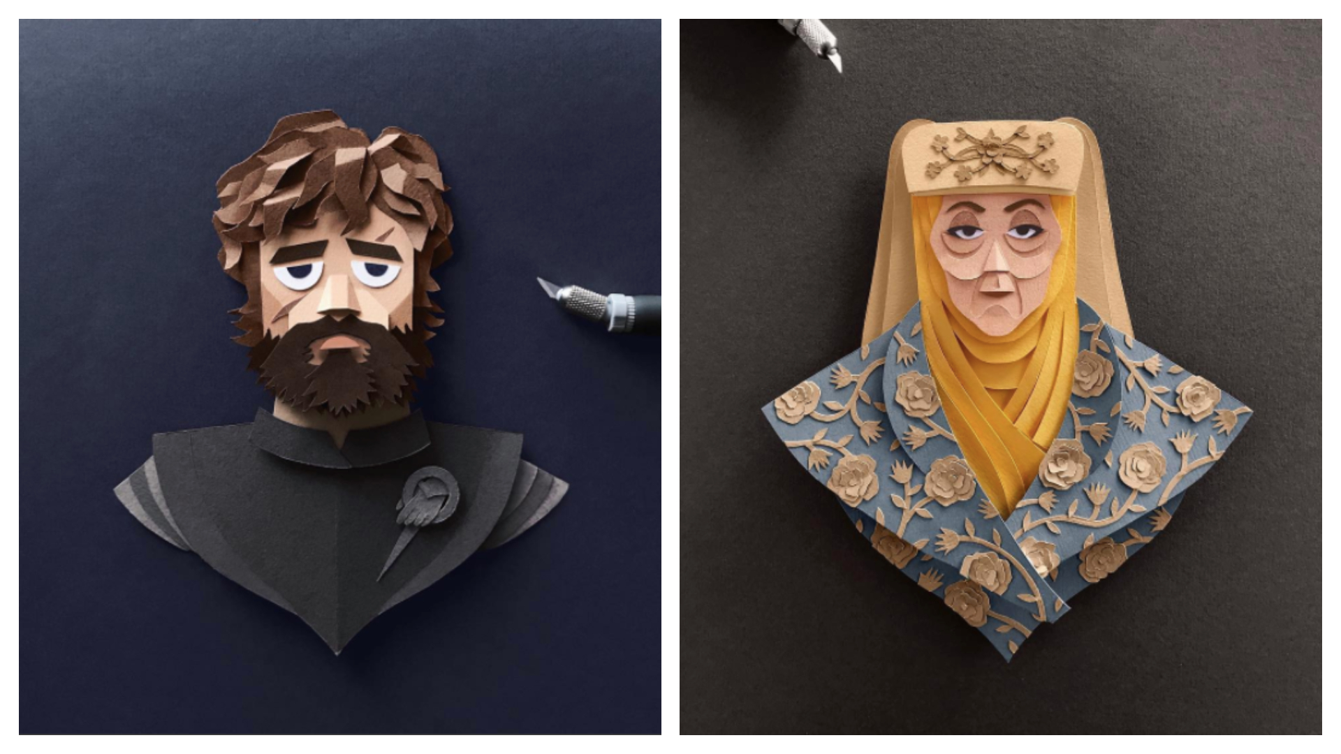 I kirigami di Game of Thrones: sculture di carta perfette