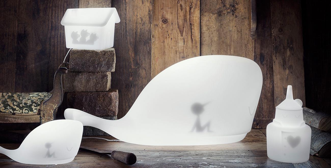 Light Tales, le nuove lampade di Ale Giorgini dedicate al mondo delle fiabe