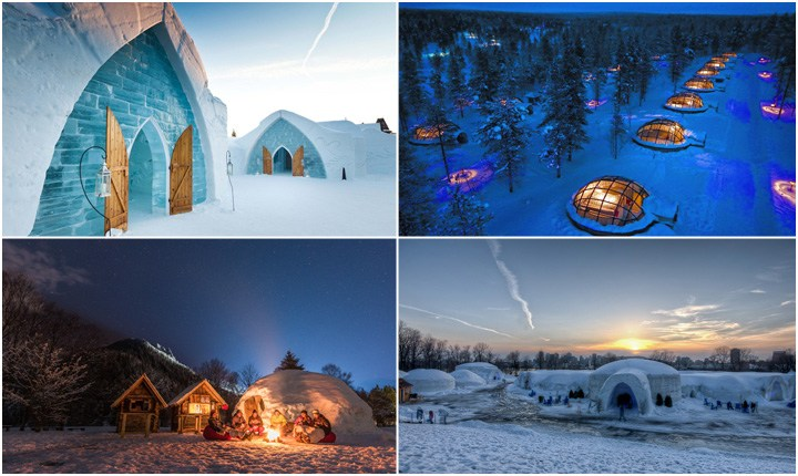 Hotel di ghiaccio, ecco dove trascorrere notti da brivido
