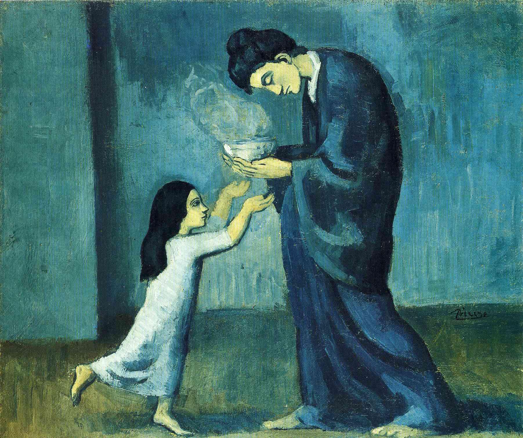 Gli struggenti dipinti del periodo 'blu' e 'rosa' di Pablo Picasso