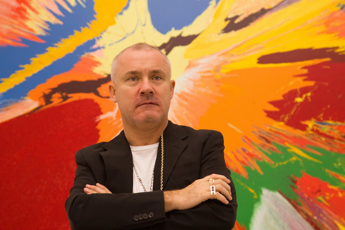 Damien Hirst, uno degli artisti superstar più quotati